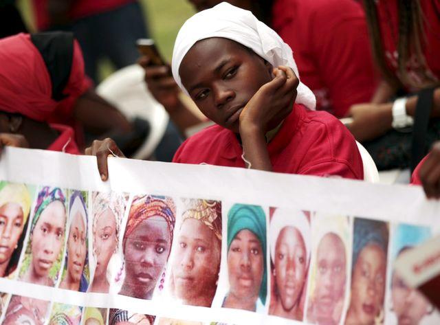 A Abuja, en aout 2015, manifestation pour les lycéennes de Boko Haram