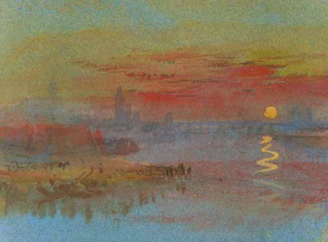 Le Soleil écarlate (souvenir de Mayence sur le Rhin)