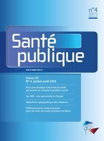 Santé publique n°25/2013