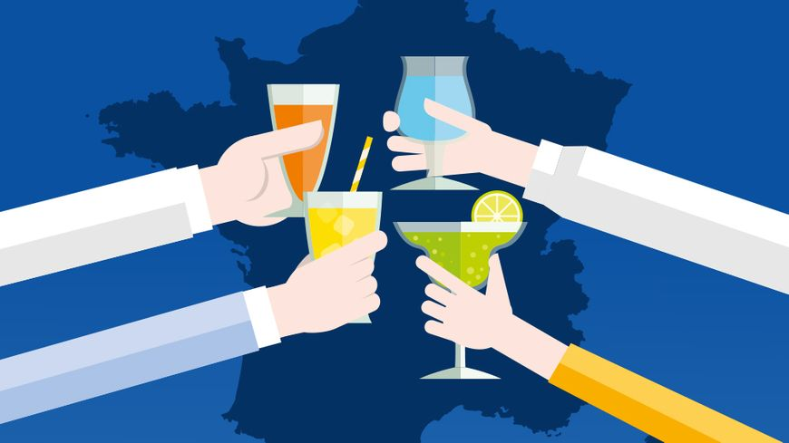 La carte de France de l'apéro, avec les internautes de France Bleu.