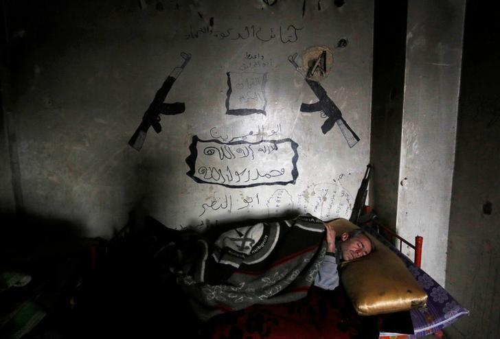Un rebelle du Front du Levant à Alep