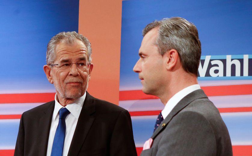 Alexander Van Der Bellen (indépendant) et Norbert Hofer (FPÖ)