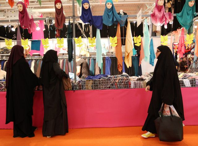 Musulmans au congrès des musulmans de France, au Bourget, en 2014