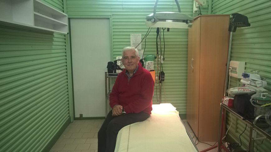 Jean-Yves Bauchu à l'infirmerie des arènes