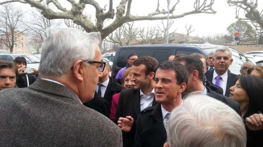 Manuels Valls lors d'une visite en Ardèche, mars 2015