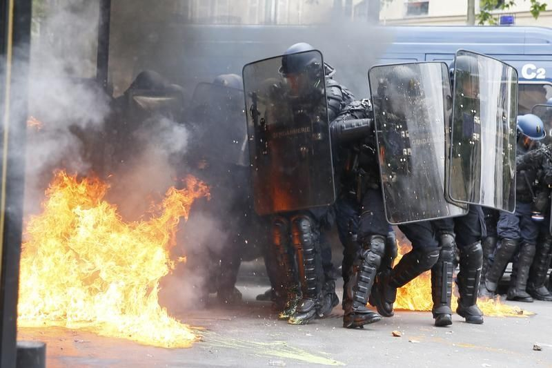Gendarmes lors de la manifestation contre la loi travail, 17 mai 2016.