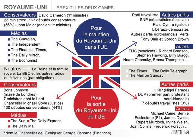 Infographie Pour ou contre le Brexit
