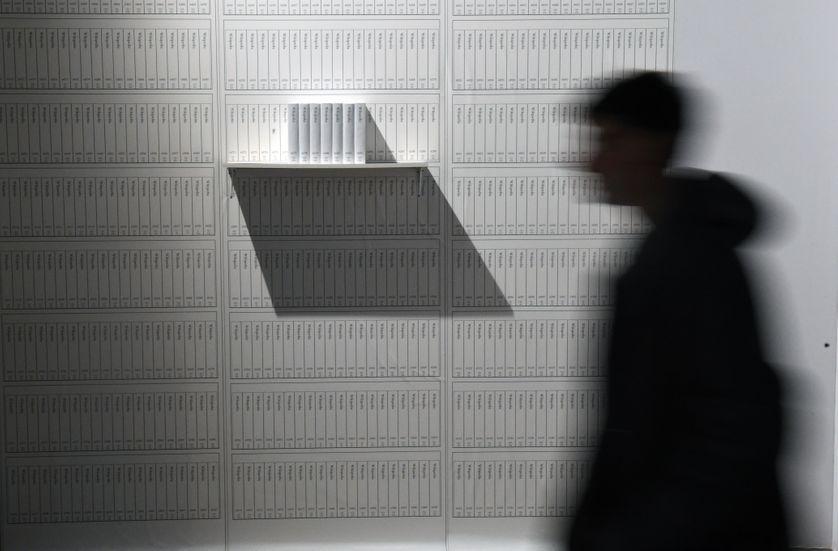 Une oeuvre de Michael Mandiberg exposée à Munich en 2016 (image d'illustration)