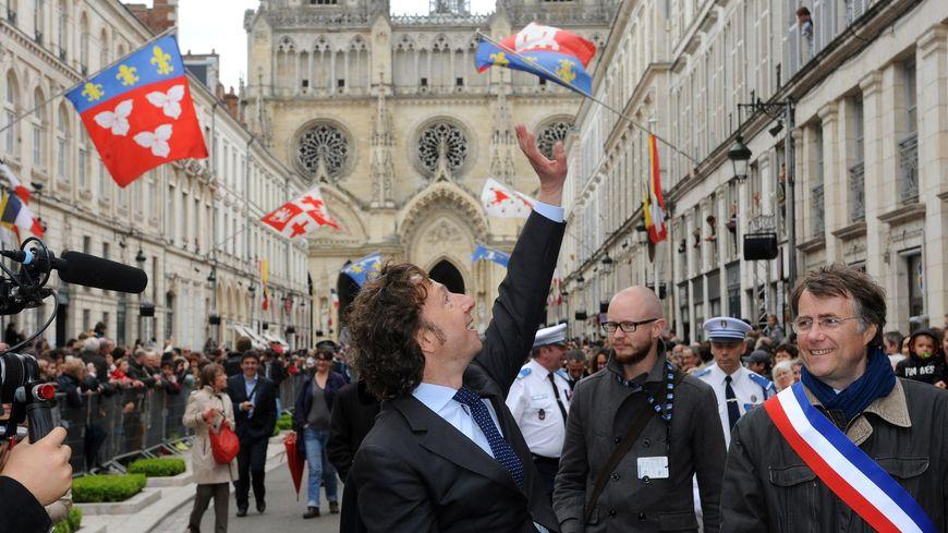 Les parlementaires défilent derrière l'invité d'honneur, comme ici en 2014
