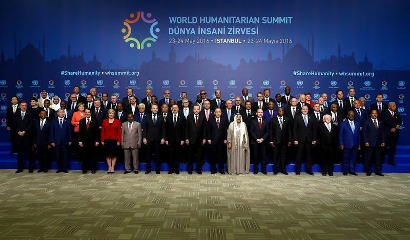 Durant le Sommet mondial sur l'action humanitaire à Istanbul le 23 mai.
