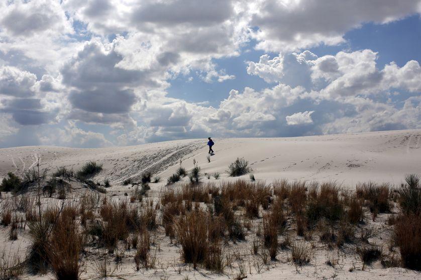 Des dunes de Gypse aux alentours de Alamogordo, dans l'état de New Mexico