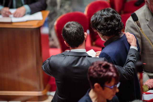 Manuel Valls et Myriam El Khomri à l'Assemblée Nationale
