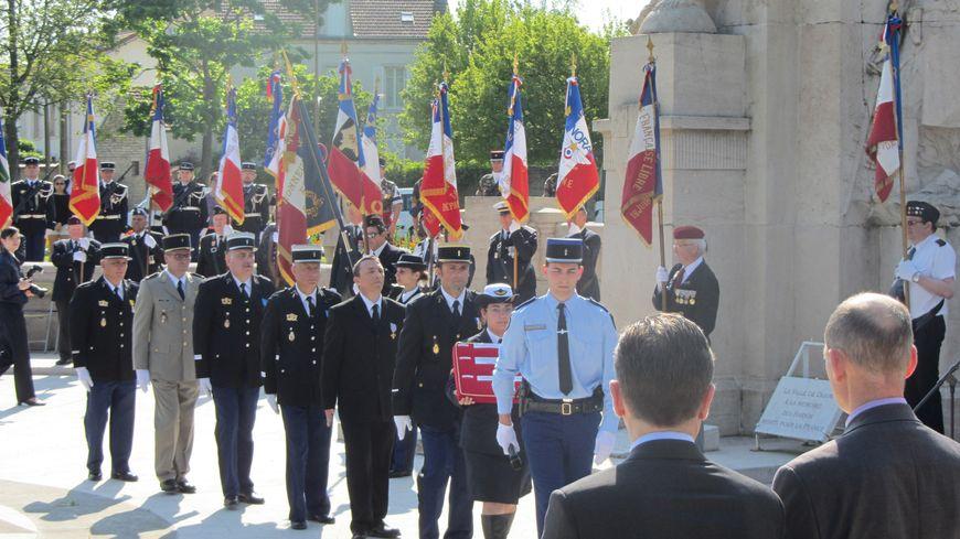 Ce 8 mai, c'était la dernière cérémonie à Dijon pour les militaires de la BA 102