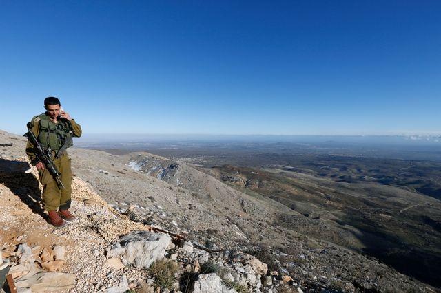 Avant-poste militaire sur le mont Hermon