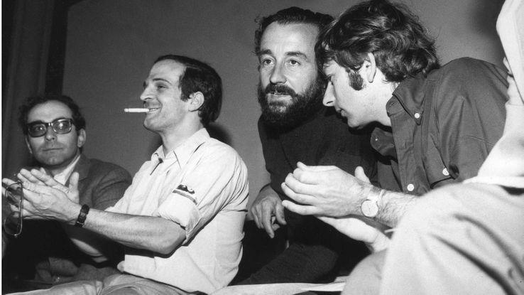 Jean-Luc Godard, François Truffaut, Louis Malle et Roman Polanski, Cannes 1968