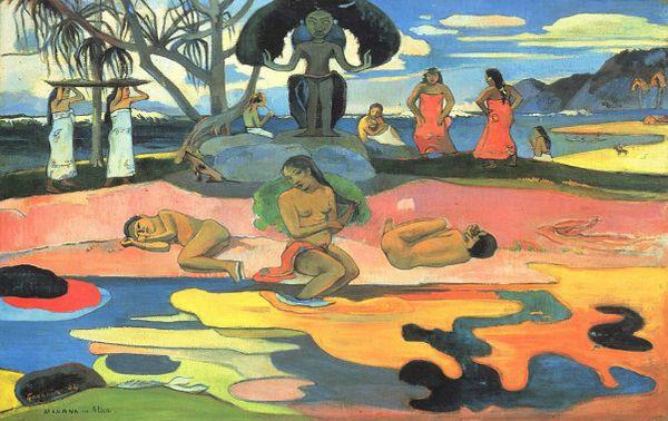 Mahana no atua (Le jour de Dieu) de Paul Gauguin, 1894.