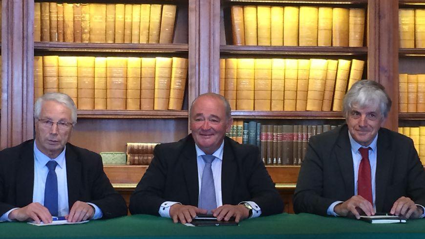 André Arribes, Jean-Jacques Lasserre et Bernard Uthurry annoncent le financement
