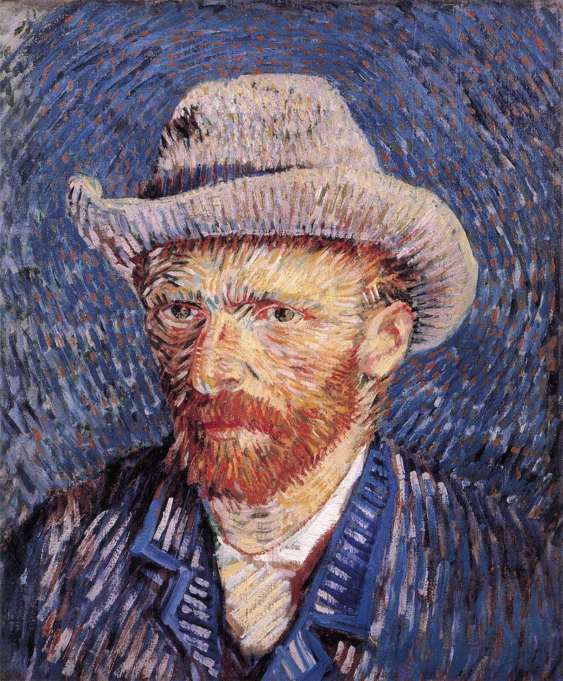 Vincent van Gogh, Autoportrait au chapeau de feutre, 1887