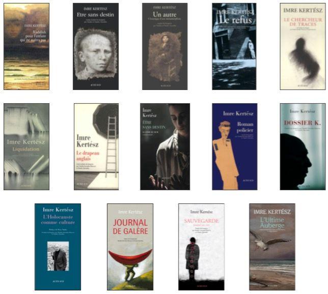 L'oeuvre d'Imre Kertész publié aux éditions Actes Sud