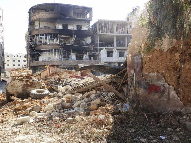 bombardement des positions rebelles syriennes autour de damas
