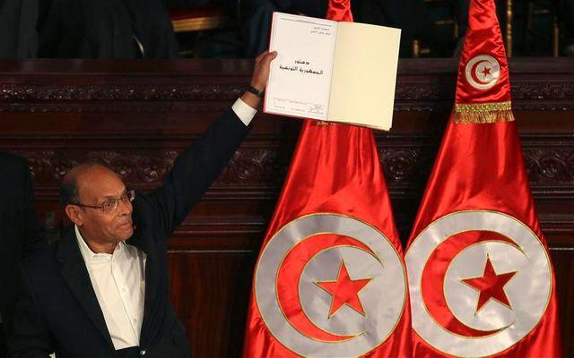 cérémonie d'adoption de la nouvelle constitution tunisienne ce vendredi