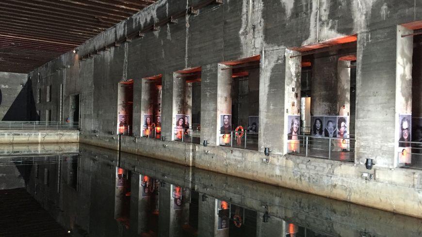 Une alvéole de la base sous-marine de Bordeaux, lieu d'exposition atypique.