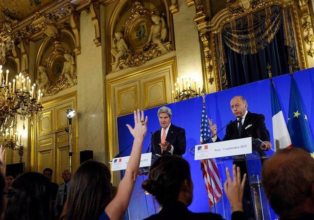 john kerry s'exprime en français pour convaincre sur la syrie