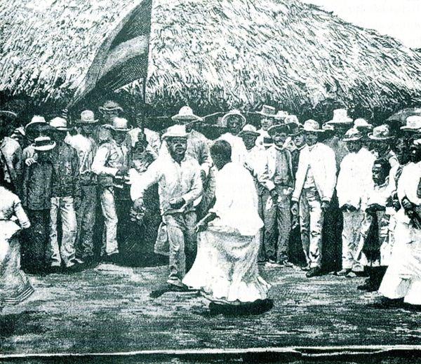 Tango de Negros en Cuba, in La Illustracion Cubana, revue publiée à Barcelone à la fin du XIXe siècle.