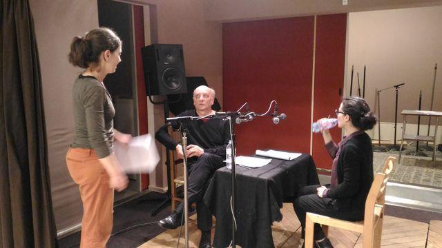 Laurent Claret, Chloé Réjon et Alice Kachane en pleine répétition