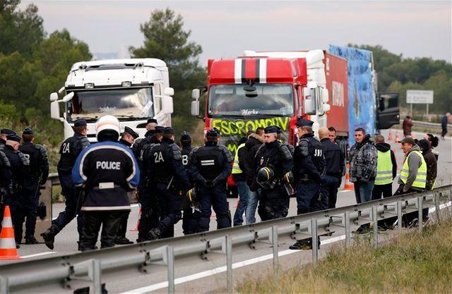 annulation des opérations escargot anti-écotaxe des routiers en ile-de-france