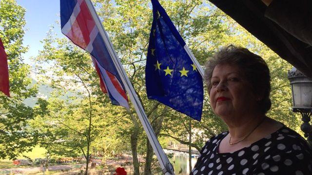 Chris Ryder, maire de Cheltenham (GB) est arivée à Annecy en plein Brexit.
