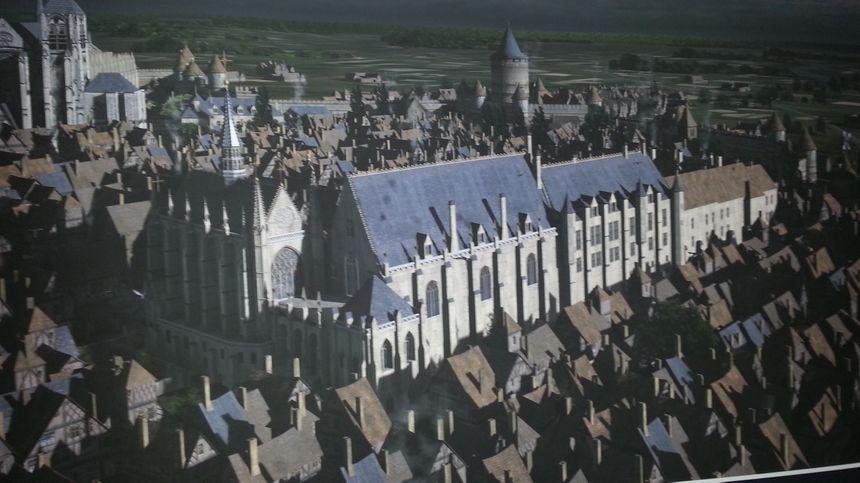 Le palais ducal dont il ne subsiste qu'une petite partie