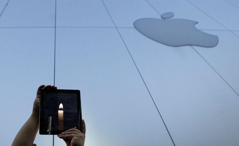 Hommage à Steve Jobs le 6 octobre 2011 à Tokyo