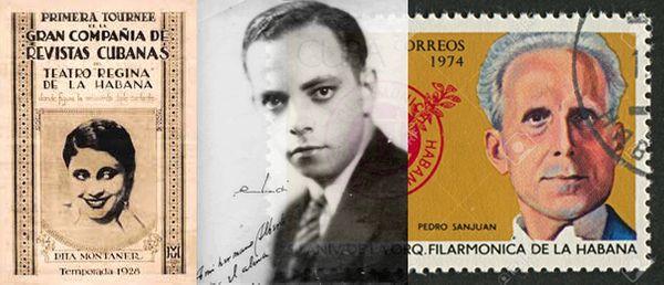 Affiche du Théâtre Régina de La Havane (Rita Montaner, 1928) / Amadeo Roldan peu après son arrivée à La Havane en 1929 / Pedo Sanjuan