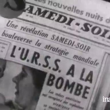 Une du journal Samedi-Soir : L'URSS à la bombe