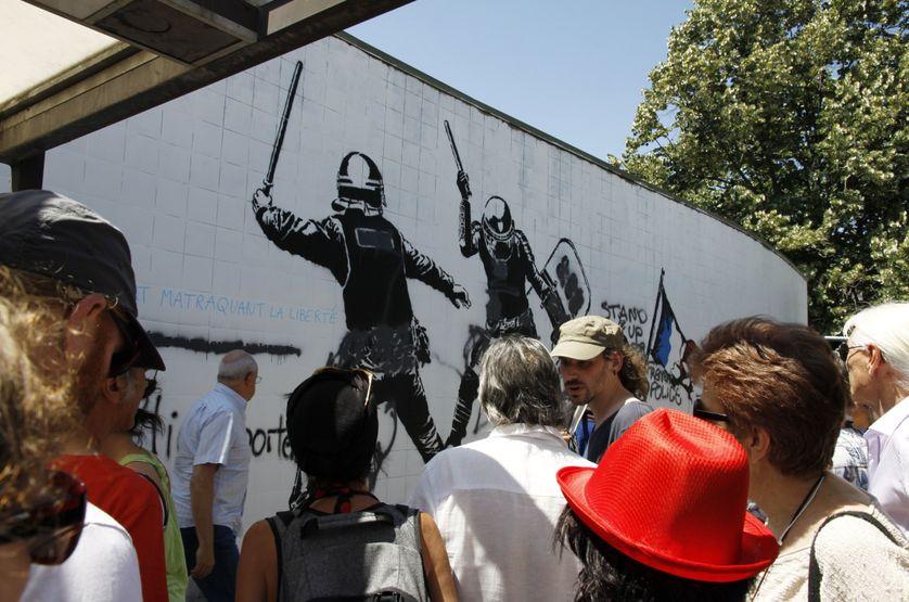 La fresque de l'artiste Goin à Grenoble crée la polémique et le débat