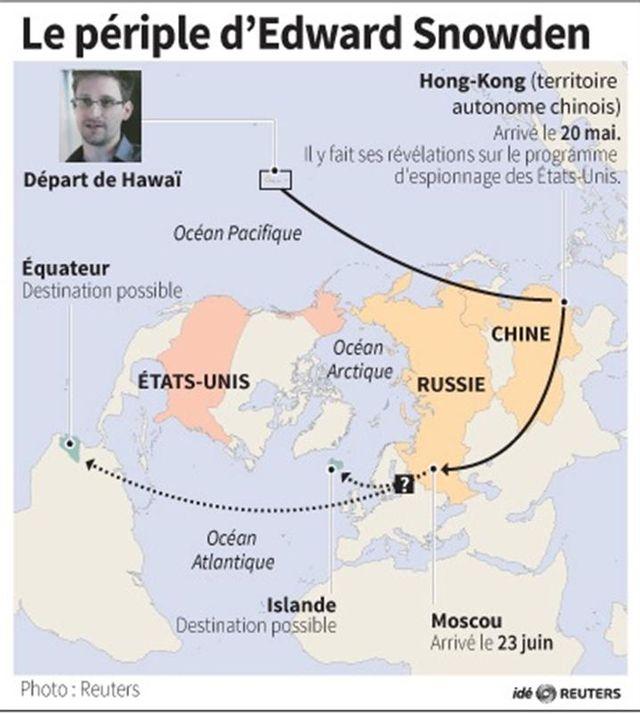 le périple d'edward snowden