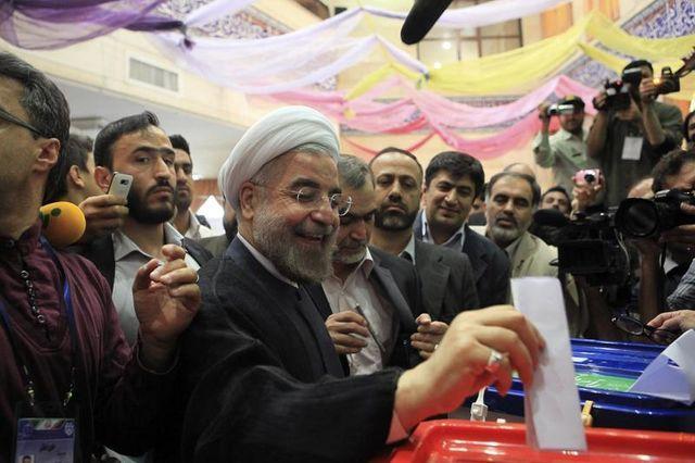 hassan rohani en position de l'emporter au premier tour en iran