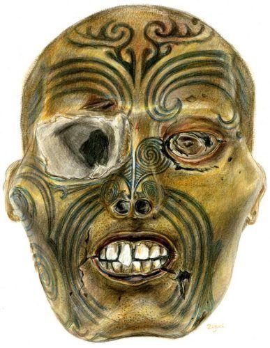 Dessin tête maori