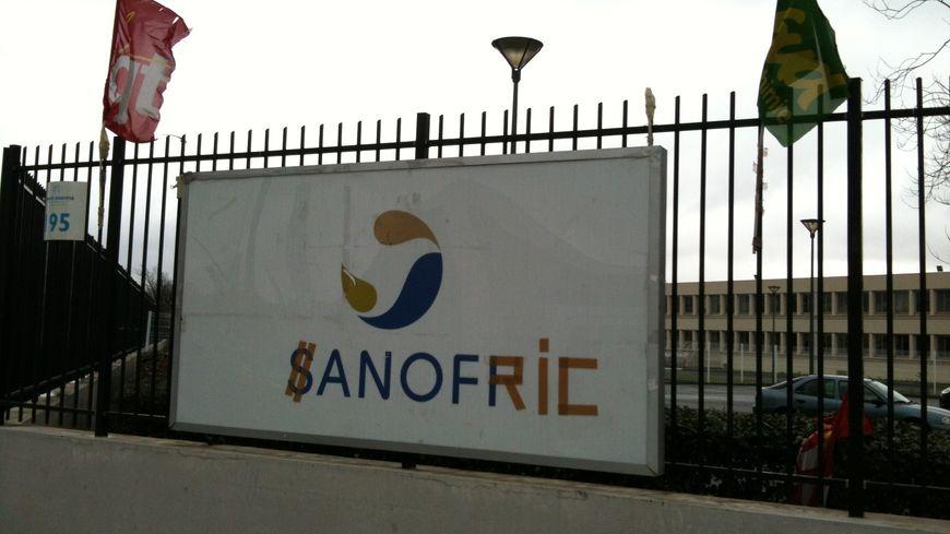 L'entrée du site de Sanofi à Toulouse