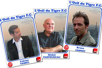 Fabrice Tassel, Michel Pastoureau et Bruno Lesprit