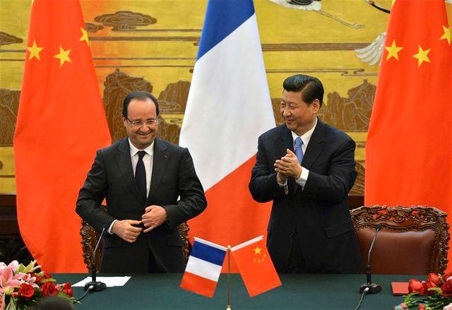françois hollande prône un rééquilibrage des relations commerciales entre paris et pékin