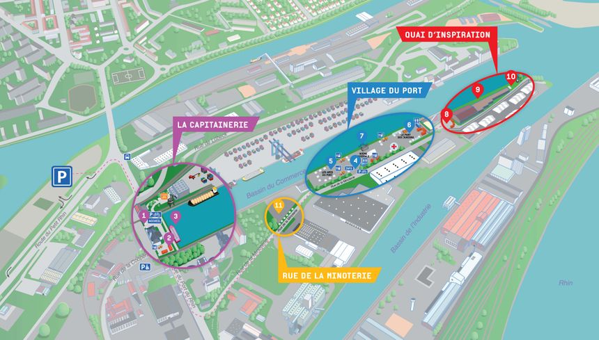 Plan du Port autonome de Strasbourg