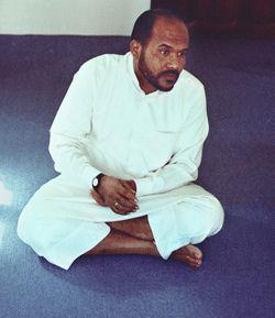 Nasser Al Bahri dans son appartement de Sanaa (nov. 08)