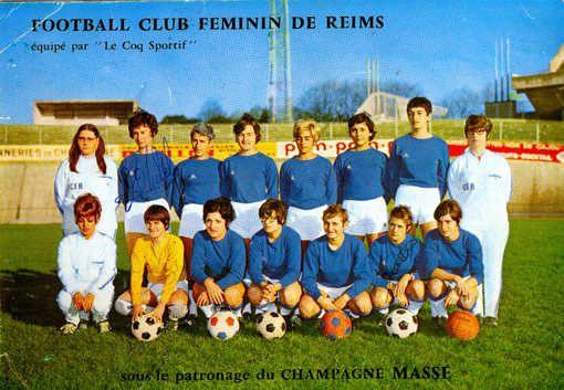 Le football club féminin de Reims.