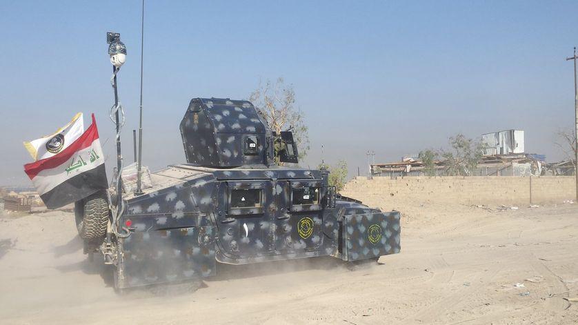 Un blindé de l'armée irakienne à Falloujah, le16 juin 2016.