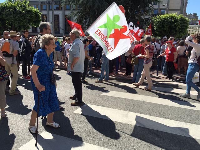 Camille Senon a défilé contre la loi El Khomri.