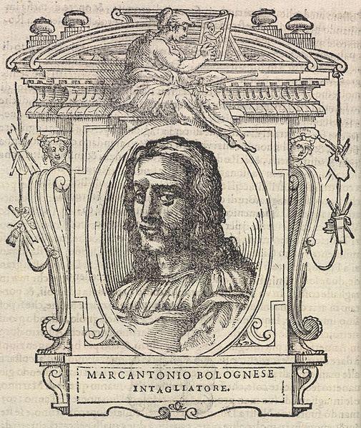 Portrait de Marcantonio dit Bolognese