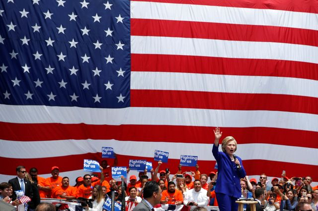 Hillary Clinton à Lynwood, Californie