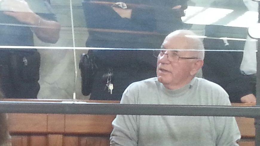 Claude Ducos dans le box lors du premier procès